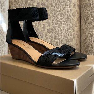 Lucky Brand Black Joshelle Sandals Wedges Size 9.5